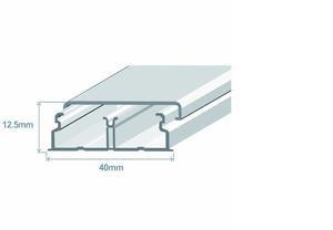 Миниканал 40х12,5 с 1-й перегородкой (метр) Efapel 10050 CBR