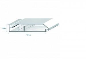 Кабельный плинтус 110х20 с 2-мя перегородками Efapel 10100 CBR (метр)