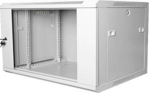 Шкаф телекоммуникационный настенный 19 18U 600х450х901 мм, стеклянная дверь, серый, GYDERS GDR-186045G
