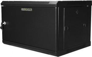 Шкаф телекоммуникационный настенный 19 12U, 600х450х635 мм, металлическая дверь, черный GYDERS GDR-126045BM