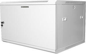 Шкаф настенный 19 6U, 600x450x368 мм, металлическая дверь, серый, GYDERS GDR-66045GM