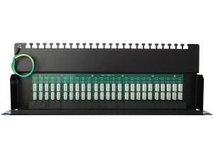 """Патч-панель телефонная 19\"""", 1U, 50 портов RJ45 8p6c, категория 3, DUL IDC SINELLS MFG-1531dual"""