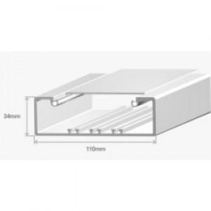 Короб для проводов Efapel 110х34 в комплекте с крышкой (метр) Efapel 10080 CBR