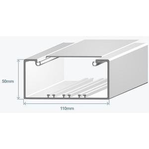 Короб для проводов Efapel 110х50 в комплекте с крышкой (метр) Efapel 10090 CBR