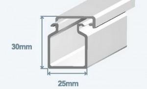 Короб 25х30 в комплекте с крышкой (метр) Efapel 13010 CBR