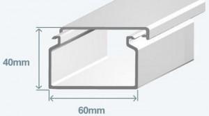 Короб 60х40 в комплекте с крышкой Efapel 13030 CBR