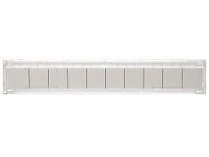 Откидная маркировочная рамка на 10 пар прозрачная SINELLS SNL-FRM