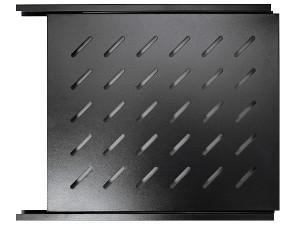 Полка выдвижная, глубина 560мм, 1U, черная, GYDERS GDR-SS-560B