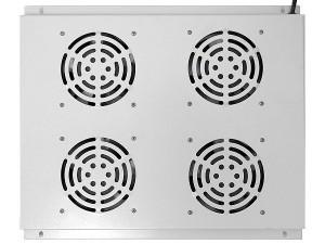 Блок вентиляторов потолочный для шкафов глубиной 800мм, 4 вентилятора, серый, GYDERS GDR-RCFB-804G