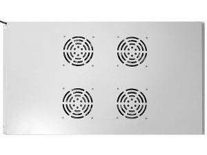 Блок вентиляторов потолочный для шкафов глубиной 1000мм, 4 вентилятора, серый, GYDERS GDR-RCFB-1004G