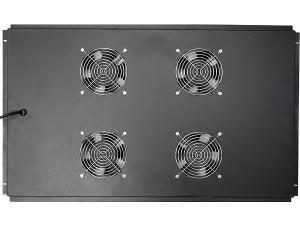 Блок вентиляторов потолочный для шкафов глубиной 1000мм, 4 вентилятора, черный, GYDERS GDR-RCFB-1004B
