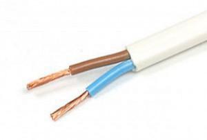 Плоский кабель ШВВП 2*2.5 мм (метр), провод ШВВП-2-2.5