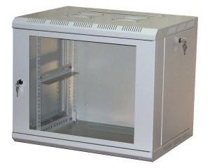 """Шкаф настенный 19\"""", 12U, 600х450х635, металлическая дверь, серый, GDR-126045GMU (царапины)"""