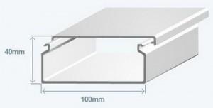 Короб 100х40 в комплекте с крышкой Efapel 13070 CBR