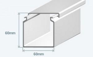 Короб 60х60 в комплекте с крышкой Efapel 13040 CBR