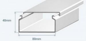 Короб 80х40 в комплекте с крышкой Efapel 13050 CBR