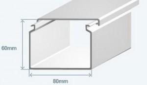 Короб 80х60 в комплекте с крышкой Efapel 13060 CBR