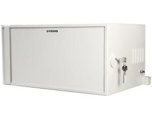 Шкаф антивандальный 19 9U 600х600х501 мм, металлическая дверь серый, GYDERS GDR-96060GA