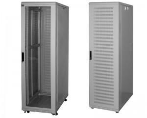 Шкаф напольный 32U, 600x800x1640, стеклянная дверь, серый GDR-326080BU (царапины, вмятины)