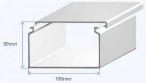 Короб 100х60 в комплекте с крышкой Efapel 13080 CBR