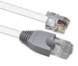 Патч-корд телефонный RJ12-RJ45, 10 м SINELLS RJ12-RJ45-3-10