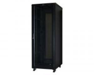 Шкаф напольный 42U, 600x800x2085, стеклянная дверь, черный GDR-426080BU (витринный образец имеет царапины)