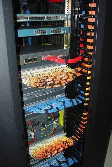 серверный шкаф с оборудованием
